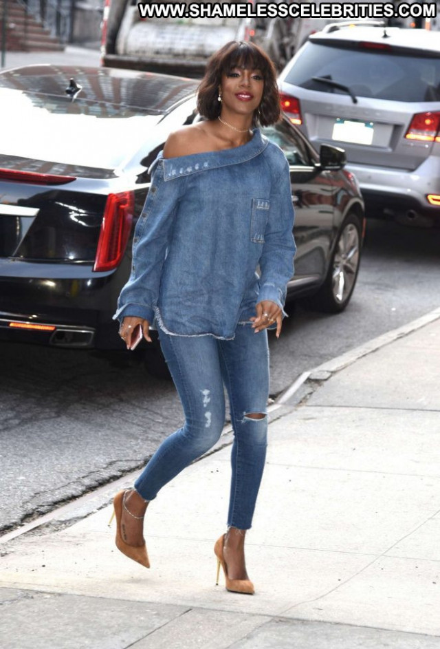 Kelly Rowland No Source Nyc Beautiful Posing Hot Celebrity Paparazzi