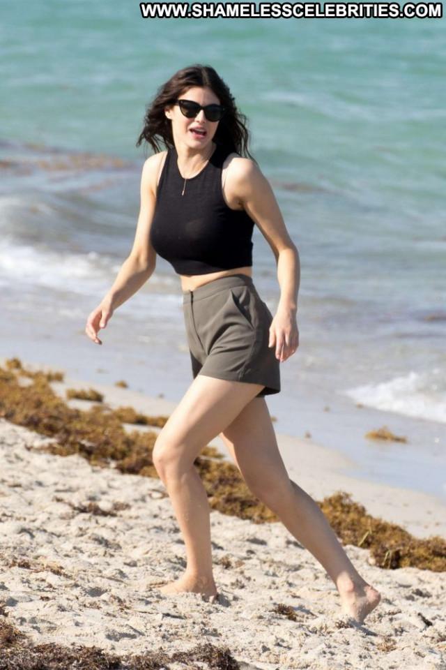 Alexandra Daddario Miami Beach Paparazzi Beach Beautiful Celebrity