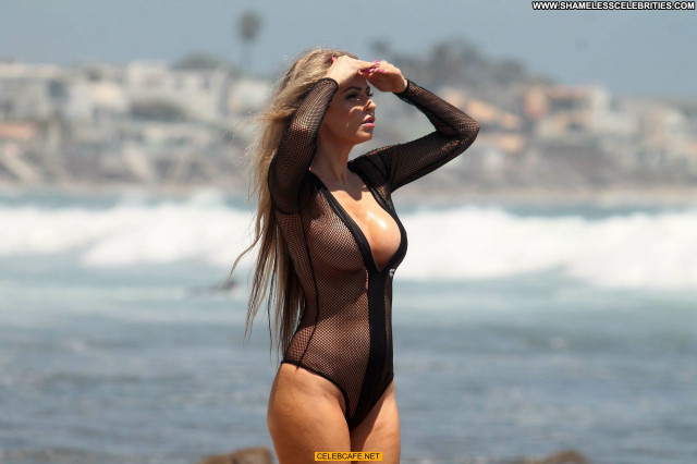 Ana Braga No Source Posing Hot Beautiful Malibu Beach Mali Babe