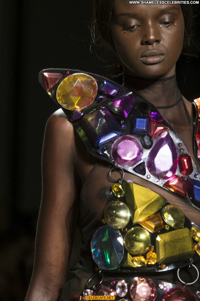 Duckie Thot Fashion Show See Through Beautiful Fashion Celebrity