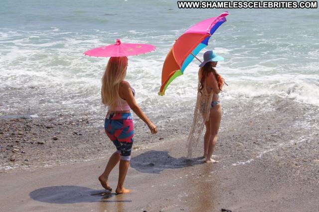 Alena Vodonaeva The Beach In Malibu  Latina Male Redhead Beach