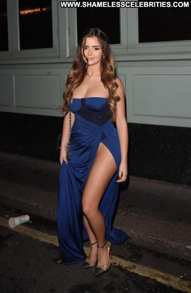Rose Blue Dress  Beautiful Celebrity London Sex Sexy Posing Hot Babe