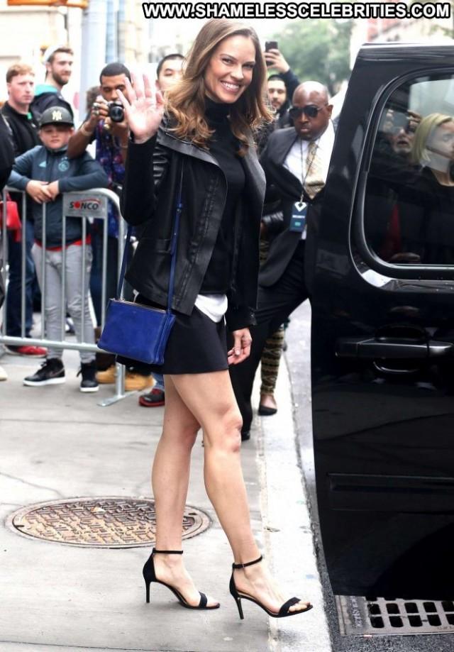 Hilary Swank New York Posing Hot Beautiful Babe Celebrity New York