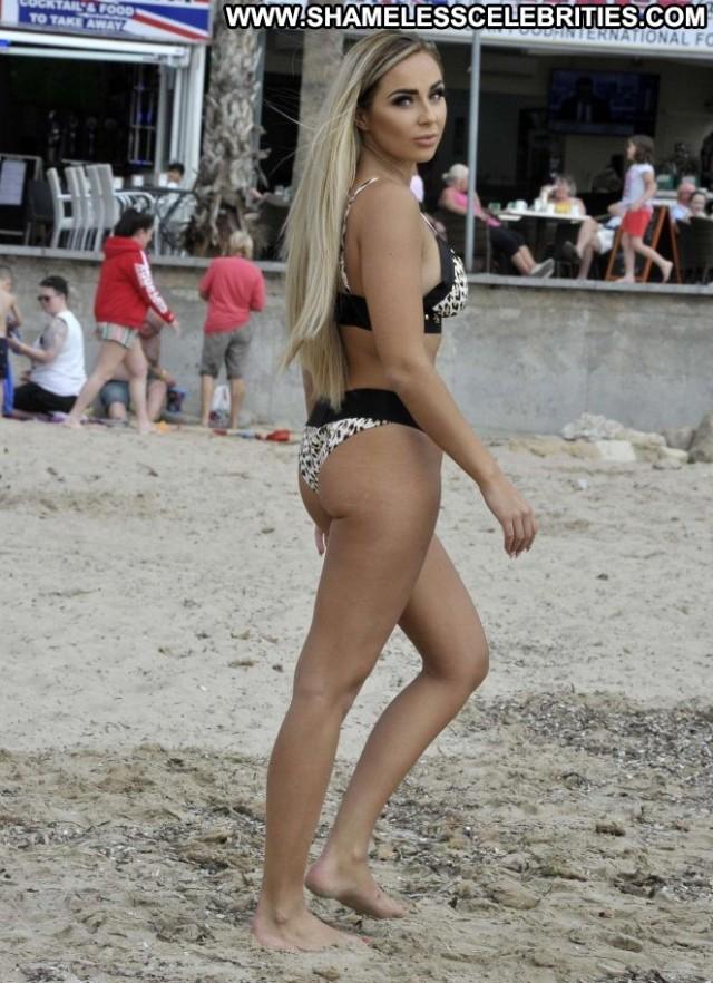 Georgia Cole The Beach Beach Spain Posing Hot Beautiful Bikini