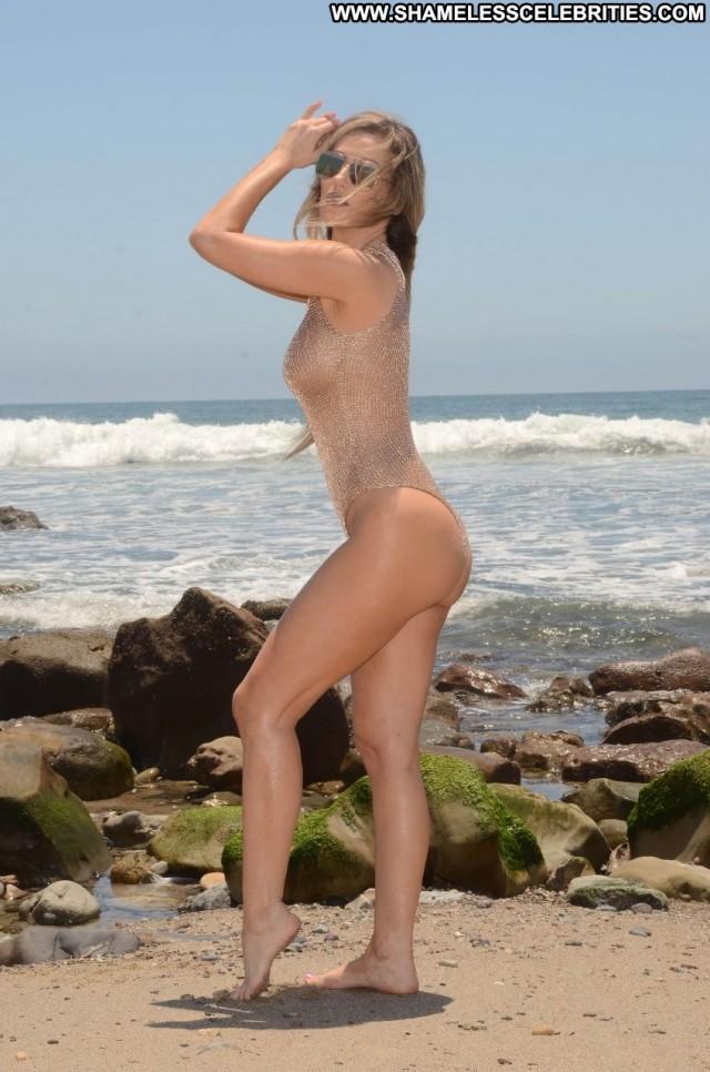 Ana Braga Malibu Beach Celebrity See Through Beautiful Swimsuit Model