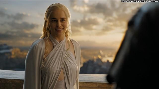 Emilia Clarke Game Of Thrones Nude Posing Hot Boobs Big Tits Hot