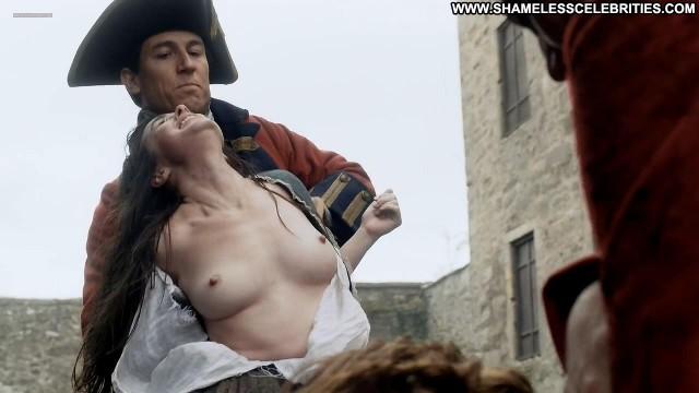 Caitriona Balfe Outlander  Big Tits Topless Posing Hot Boobs