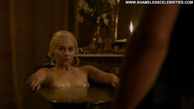 Emilia Clarke Carice Van Houten Game Of Thrones S3e8 Topless