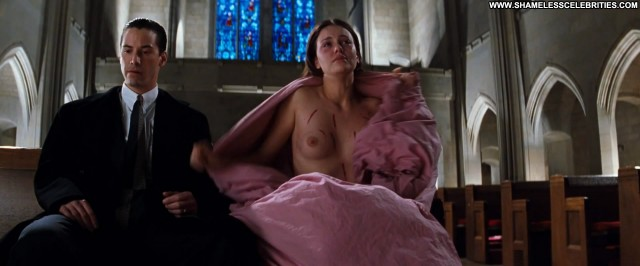 Charlize Theron The Devils Advocate Bush Big Tits Full Frontal Boobs