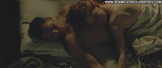 Jessica Chastain Lawless Bed Topless Posing Hot Celebrity