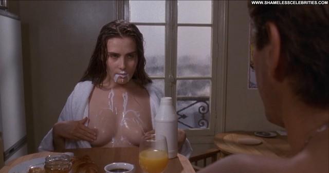 Emmanuelle Seigner Bitter Moon Celebrity Movie Sexy Milk Nude Topless