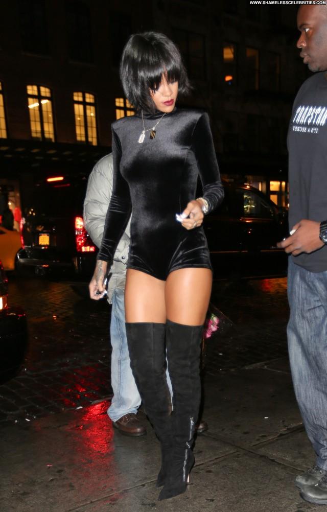 Rihanna No Source Babe Beautiful Nyc Party Posing Hot Celebrity High