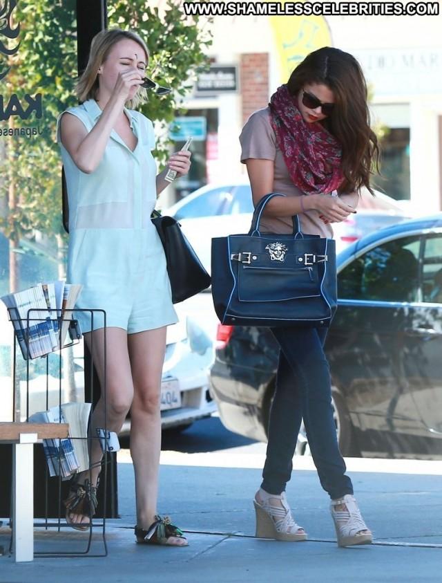 Selena Gomez Studio City High Resolution Posing Hot Celebrity