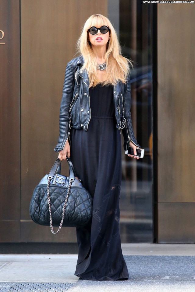 Rachel Zoe Dark Blue Leather Babe New York Beautiful Posing Hot