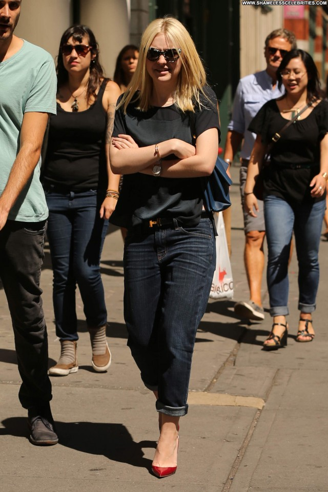 Dakota Fanning New York High Resolution Celebrity Beautiful Candids