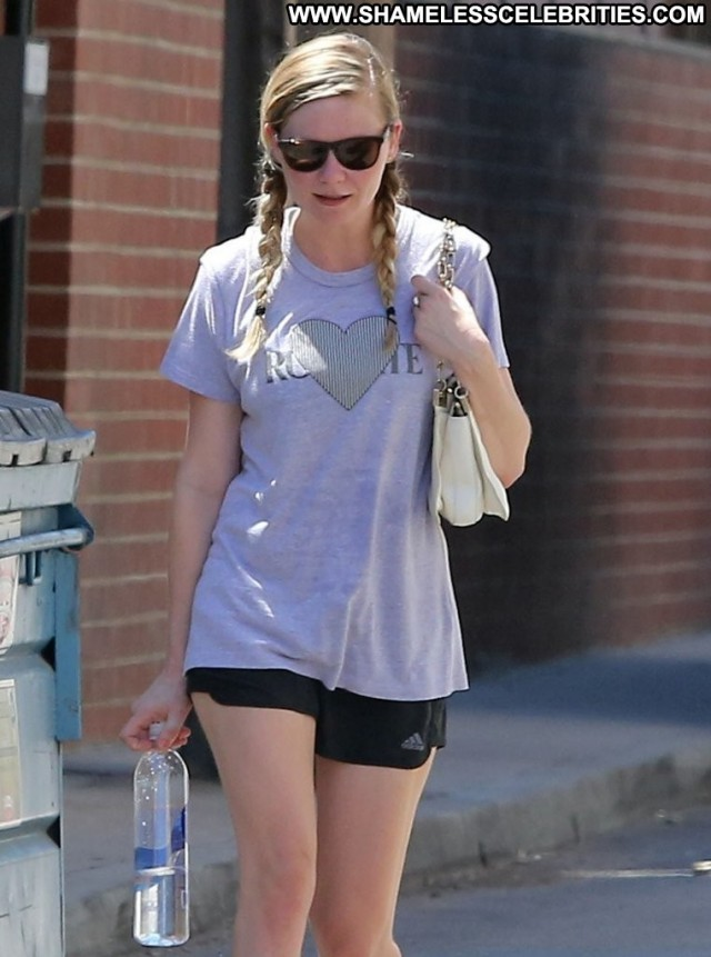 Kirsten Dunst Studio City Gym Celebrity Beautiful Babe Posing Hot