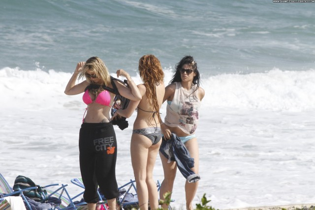 Miley Cyrus The Beach High Resolution Beach Posing Hot Bikini