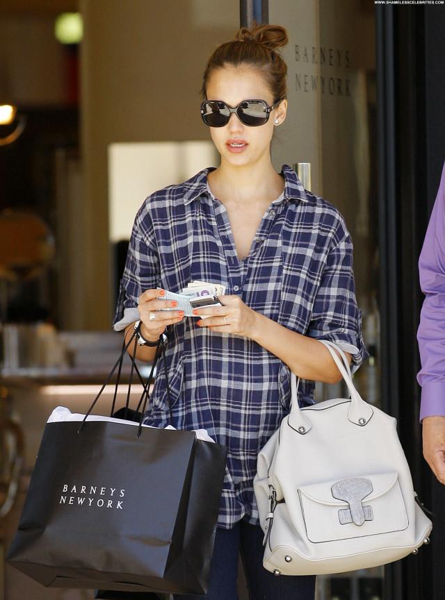 Jessica Alba Los Angeles Celebrity Babe Los Angeles Posing Hot