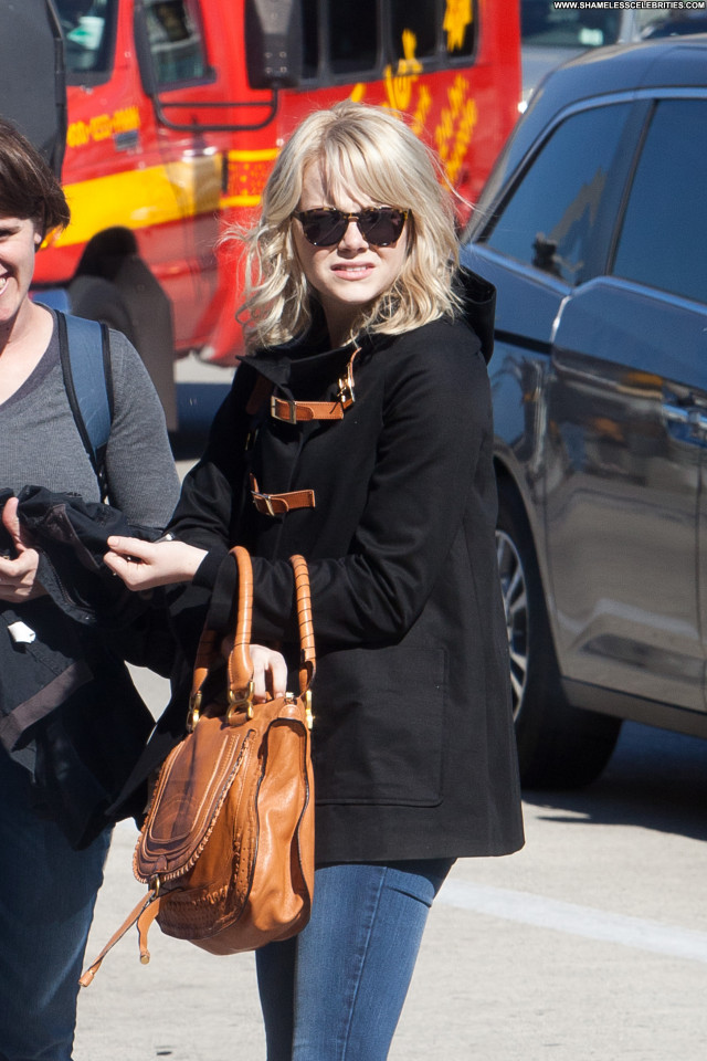 Emma Stone Los Angeles  Los Angeles Beautiful Posing Hot Celebrity