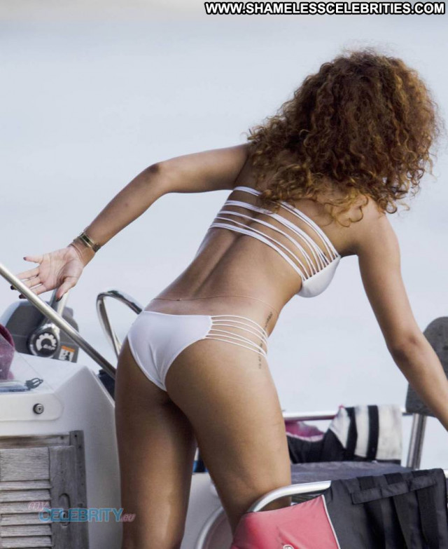 Rihanna No Source  Babe Swimsuit Celebrity Bikini Posing Hot Barbados