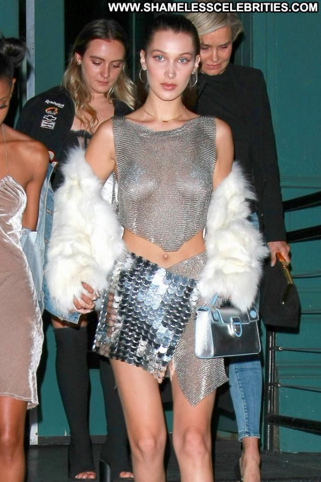Bella Hadid New York Posing Hot Beautiful Usa Babe Party New York Old