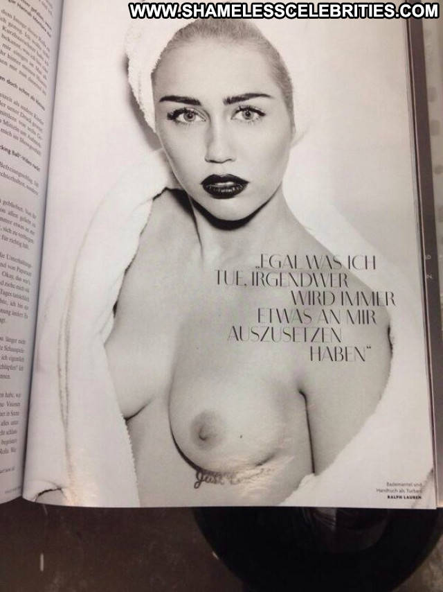 Miley Cyrus Topless Photoshoot Usa Germany Topless Babe Beautiful