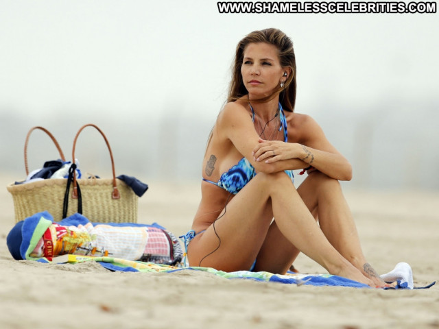 Charisma Carpenter The Beach Posing Hot Beach Babe Beautiful