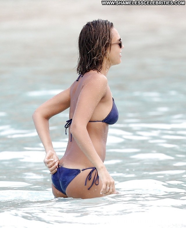 Jessica Alba Pictures Beach Brunette Celebrity Hot Famous Nude