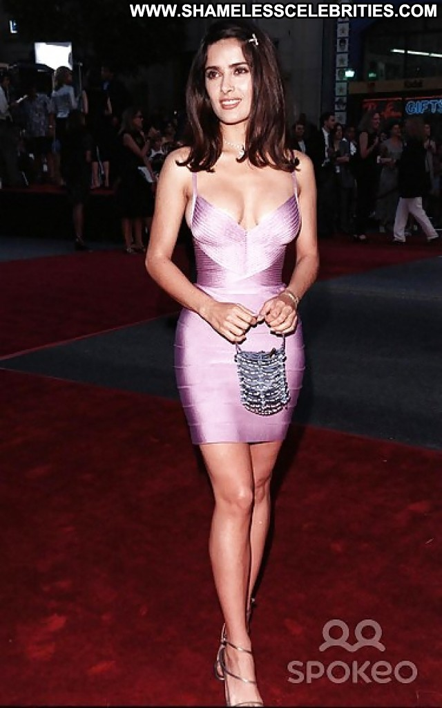 Salma Hayek Pictures Big Boobs Boobs Skirt Nice Famous Tits